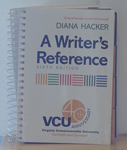 9780312536701: A Writer's Reference, VCU Custom Edition, 40th Anniversary Edition