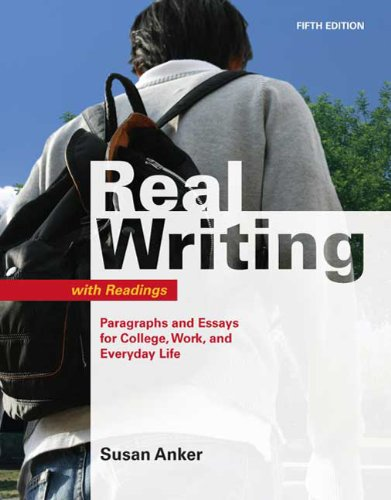 9780312539047: Real Writing with Readings: Paragraphs and Essays for College, Work, and Everyday Life