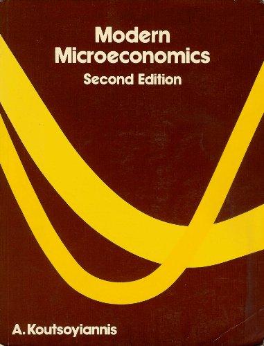 Modern Microeconomics: A. Koutsoyiannis