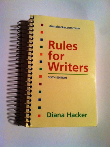 9780312541576: Rules for Writers (Sixth Edition)