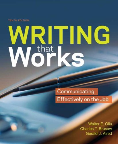 9780312541828: Writing That Works: Communicating Effectively on the Job