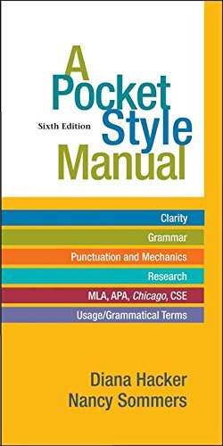 A Pocket Style Manual: Hacker, Diana; Sommers,
