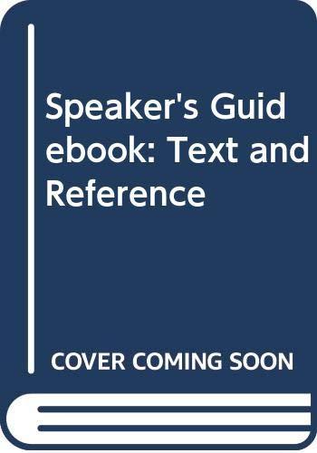 9780312550356: A SPEAKERS GUIDEBOOK