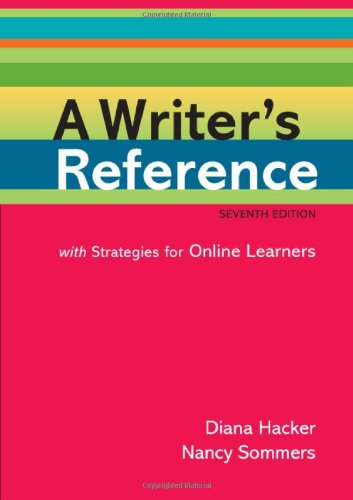 9780312551995: A Writer's Reference with Strategies for Online Learners