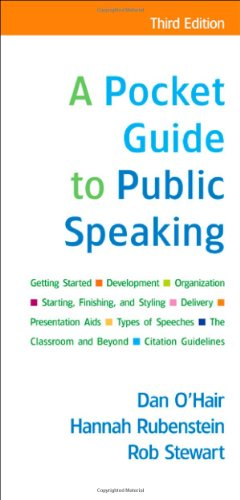 9780312554040: A Pocket Guide to Public Speaking