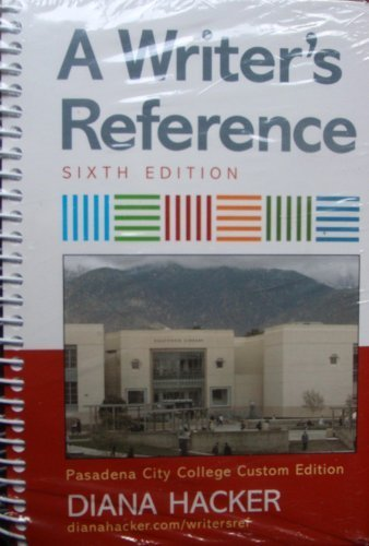 9780312557003: A Writer's Reference (Pasadena City College Custom Edition)