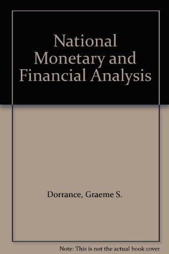 9780312559465: National Monetary and Financial Analysis