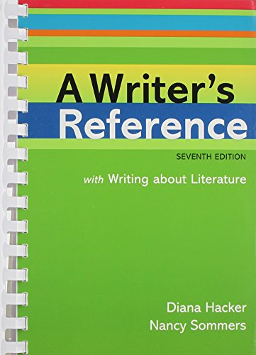 9780312561901: Writer's Reference with Writing About Literature 7e & Re:Writing Plus