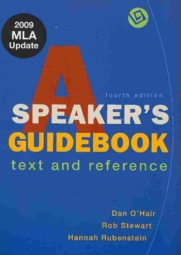 Speaker's Guidebook 4e & Essential Guide to Rhetoric: O'Hair, Dan, Stewart, Rob, ...
