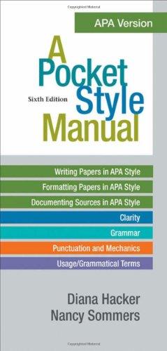 9780312568498 A Pocket Style Manual Apa Version Abebooks Diana