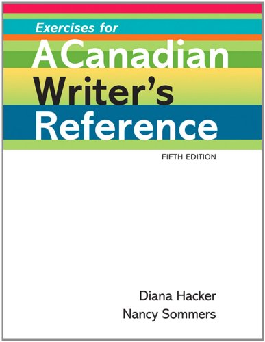 9780312571160: Exercises for A Canadian Writer's Reference