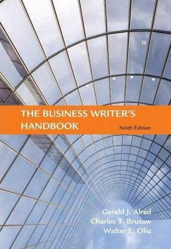 9780312575106: The Business Writer's Handbook