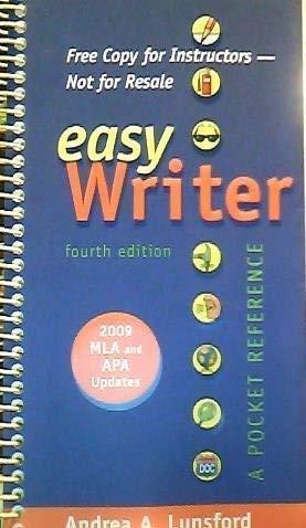 9780312583880: Easy Writer