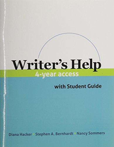 9780312591564: WRITER'S HELP-4 YEAR ACCESS CARD