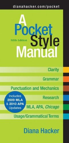 9780312593247: A Pocket Style Manual: With 2009 Mla Update