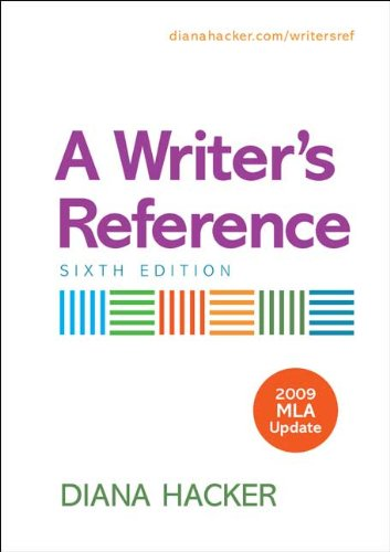 9780312593322: A Writer's Reference with 2009 MLA Update