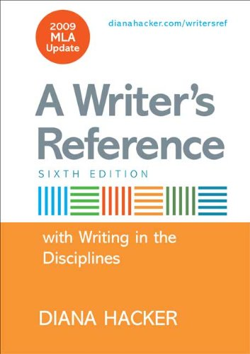 9780312593360: Writer's Reference with Help for Writing in the Disciplines with 2009 MLA Update