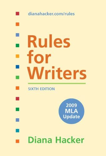 9780312593407: Rules for Writers with Tabs with 2009 MLA Update