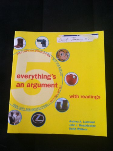 9780312596149: Everything's An Argument/ with Readings