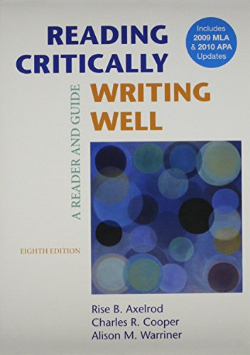 9780312601195: Reading Critically, Writing Well 8e & Documenting Sources in MLA Style: 2009 Update