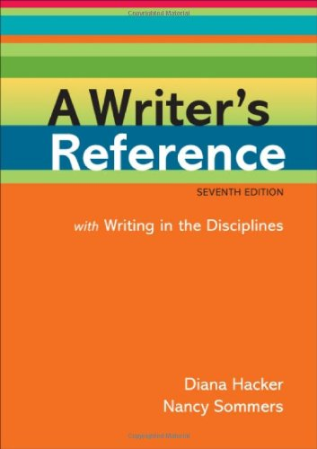 9780312601447: A Writer's Reference with Writing in the Disciplines