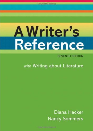 9780312601485: A Writer's Reference with Writing about Literature