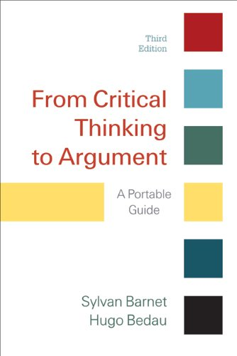 9780312601614: From Critical Thinking to Argument: A Portable Guide