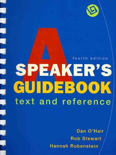 9780312601942: A Speaker's Guidebook: Text and Reference