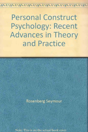 9780312602284: Personal construct psychology: Recent advances in theory and practice