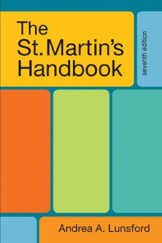 9780312602925: The St. Martin's Handbook