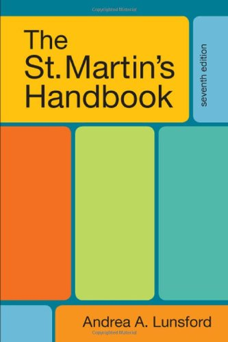 9780312602932: The St. Martin's Handbook, 7th Edition
