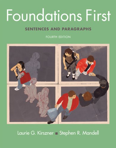 9780312603175: Foundations First: Sentences and Paragraphs