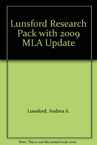 Lunsford Research Pack with 2009 MLA Update: Andrea A. Lunsford;
