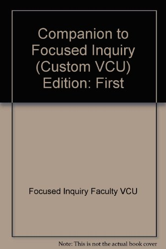 9780312612573: A Companion to Focused Inquiry VCU
