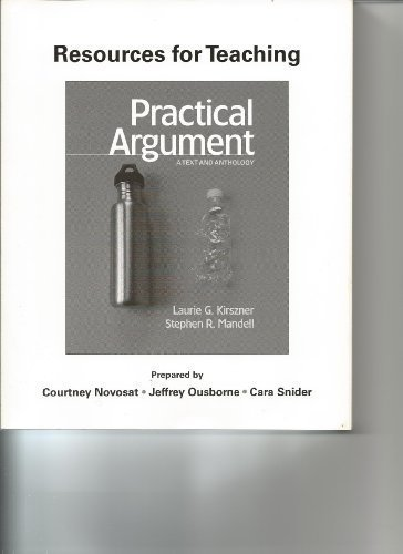 9780312613105: Resources for Teaching Practical Argument