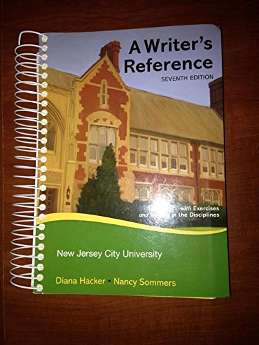 9780312613594: A Writer's Reference [NJCU Edition]