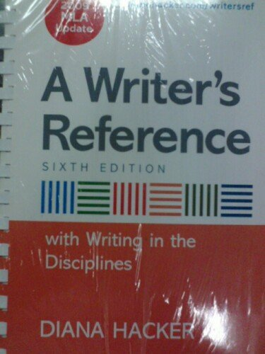 9780312613662: Writer's Reference (w/ 2009 MLA Update) (6th Edition)
