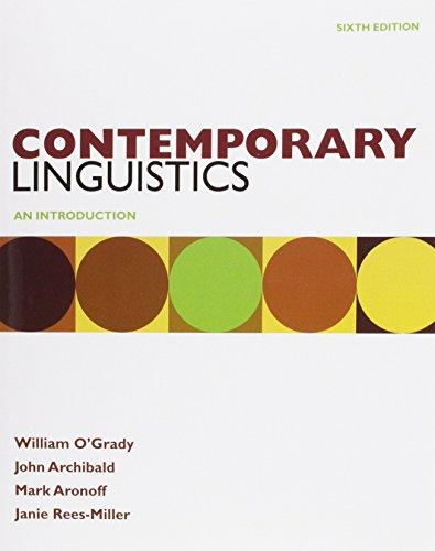 9780312618513: Contemporary Linguistics 6e & Study Guide