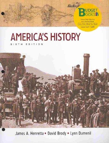 America's History: Henretta, James A.; Brody, David; Dumenil, Lynn