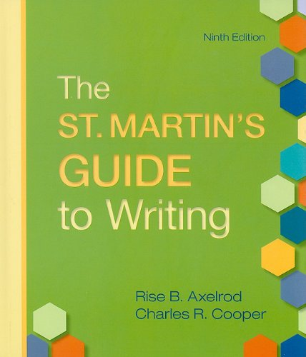 9780312625337: St. Martin's Guide to Writing 9e cloth & CompClass