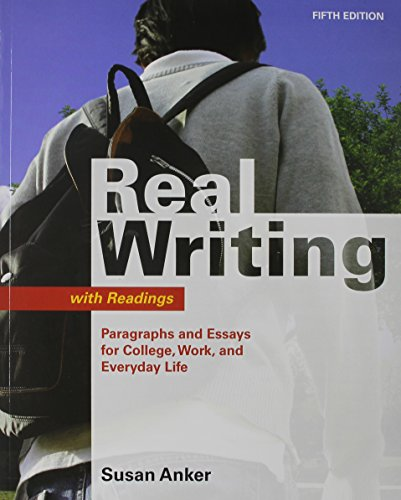 Real Writing with Readings 5e & Bedford/St. Martin's ESL Workbook 2e (0312627270) by Anker, Susan; Gandhi-Rao, Sapna