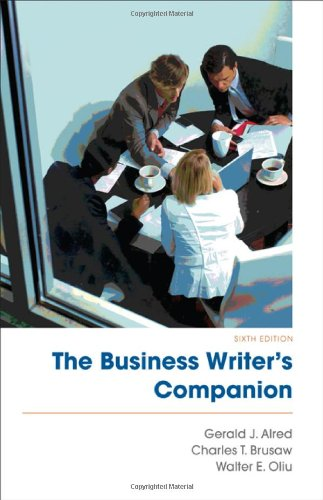 9780312631321: The Business Writer's Companion