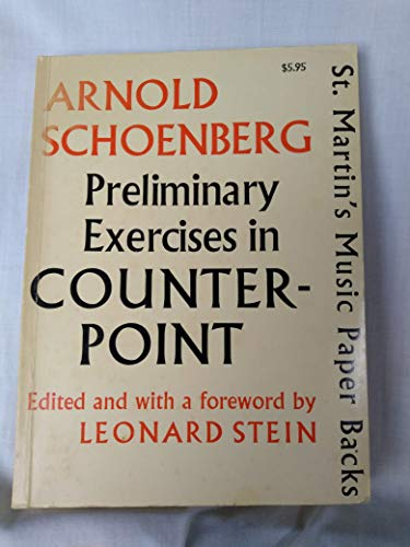 9780312638757: Preliminary Exercises in Counterpoint