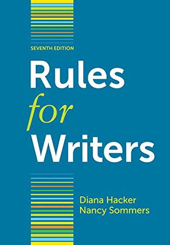9780312647360: Rules for Writers, 7th Edition