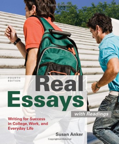 real essays readings Books writing reference fiction writing reference writing skill reference words, language & grammar + see more rhetoric essays gre test guides foreign.