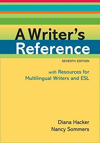 9780312649364: A Writer's Reference with Resources for Multilingual Writers and ESL