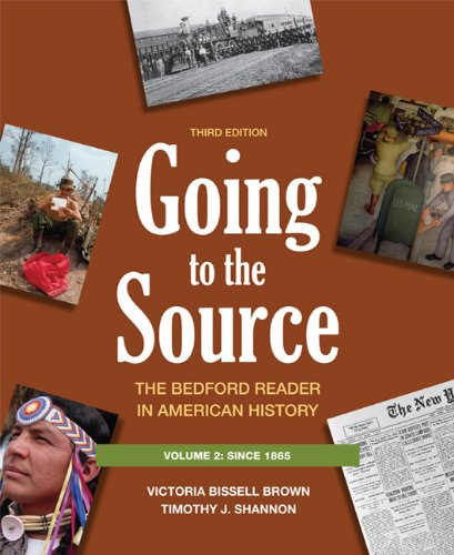 9780312652791: Going to the Source, Vol. 2: The Bedford Reader in American History, 3rd Edition