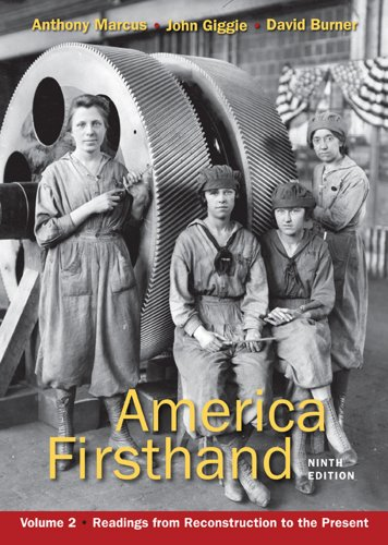 9780312656416: 2: America Firsthand, Volume Two: Readings from Reconstruction to the Present