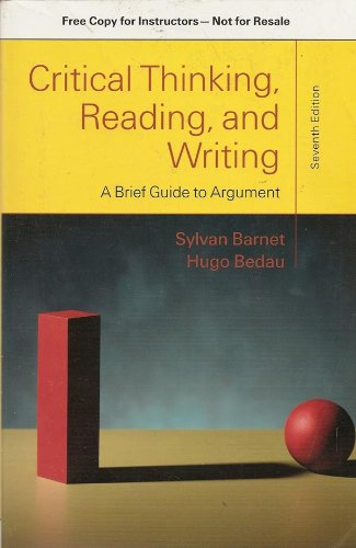 9780312657949: Critical Thinking, Reading, and Writing: A Brief Guide to Argument (Instructor's Copy)