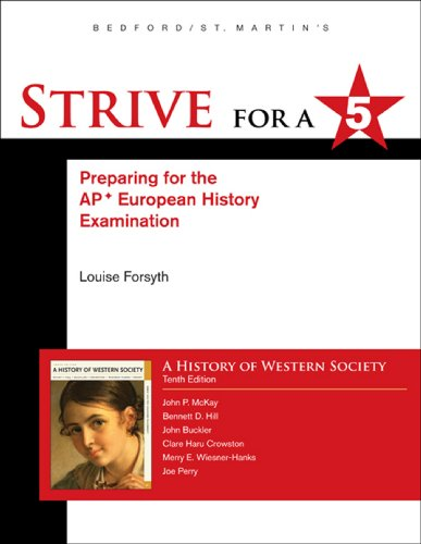 9780312662066: Strive for a 5 for History of Western Society Since 1300 for Advanced Placement